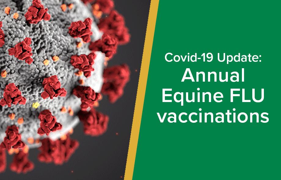 Covid-19 Update : Annual Equine FLU vaccinations