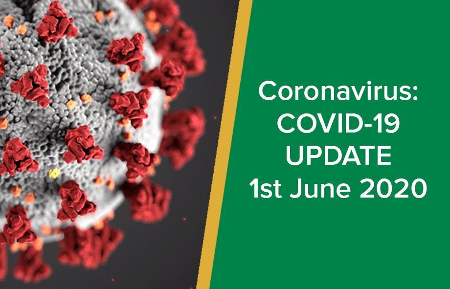 Coronavirus: COVID-19 Update – 1st July 2020